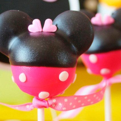 MINNIE MOUSE Cake Pops Mickey Mouse Cake Pops by cakepopsbymaggie, $30.00
