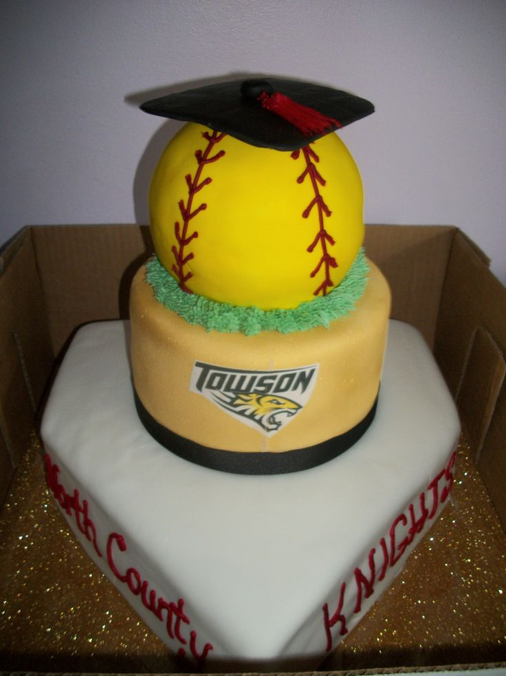 High School Graduation softball Cake | Graduation Cake