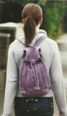 Вязаный рюкзак своими руками