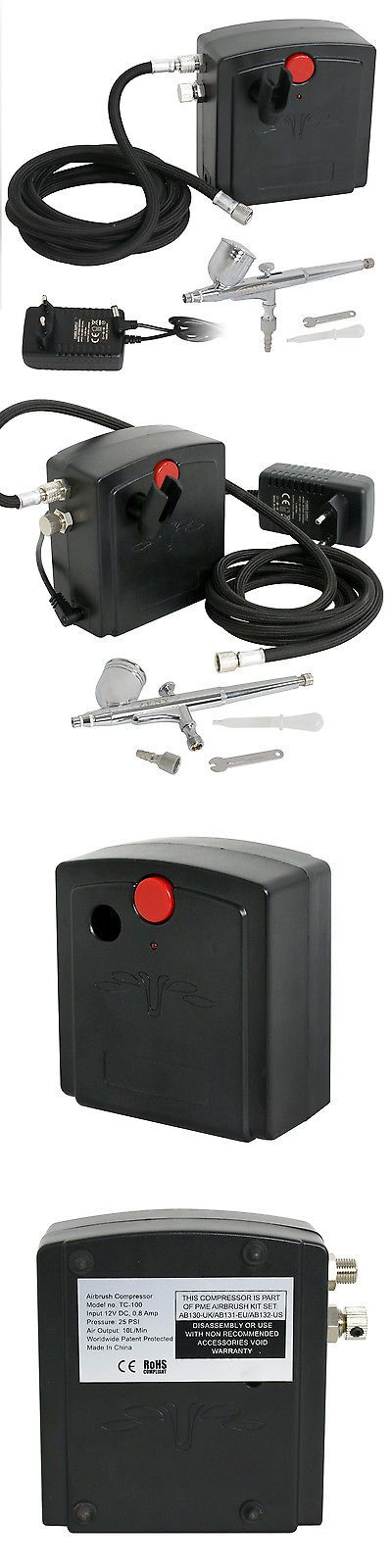 Systems and Sets 183095: Airbrush Compressor Kit Dual Action Spray Air Compressor Painting Hobby Nail Art -> BUY IT NOW ONLY: $34.99 on eBay!