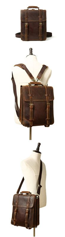 Rustic Leather Rucksack Backpack Messenger Bag Sling Shoulder Bag