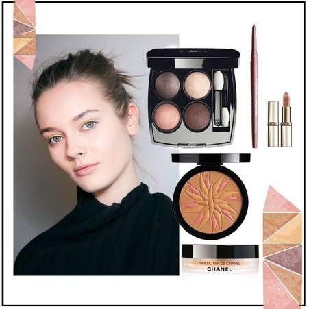Du maquillage irise pour illuminer notre ete