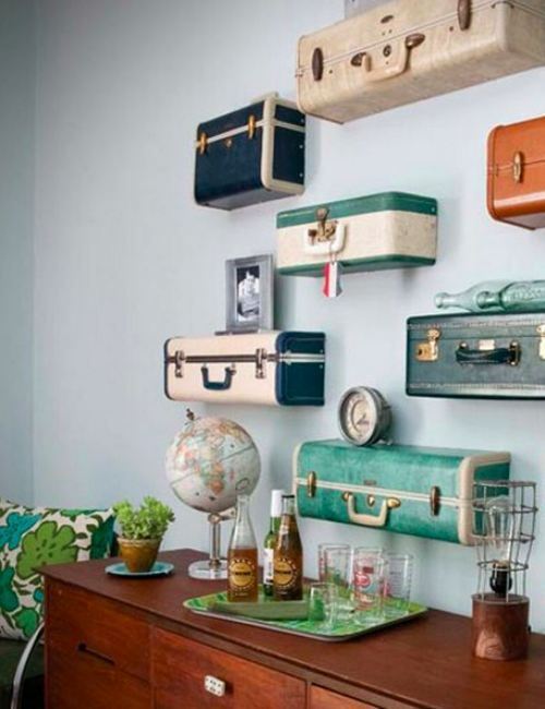 The coolest wall shelves #travel #deco