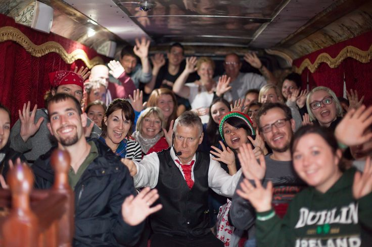Just one of the many groups enjoying another great night out on the bus with their actor Nick. #Ghosts #Ghostbus #LoveDublin #Dublin