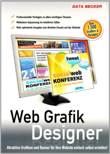 Informatica - Data Becker Web Grafik Designer – Software de gráficos -  http://tienda.casuarios.com/data-becker-web-grafik-designer-software-de-graficos-220-mb-windows-7vistaxp/