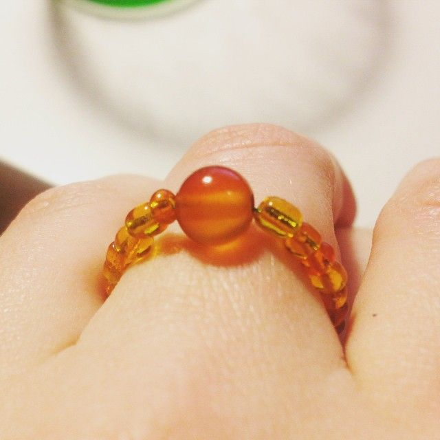 Sunny ring with Carnelian #perstenyk #makelifelemko #rings