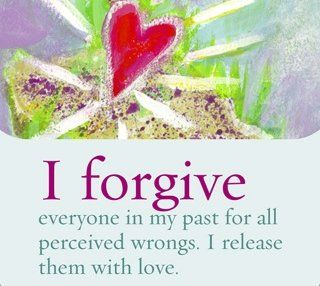 Let go of the past with love, live in the present and look towards the future.