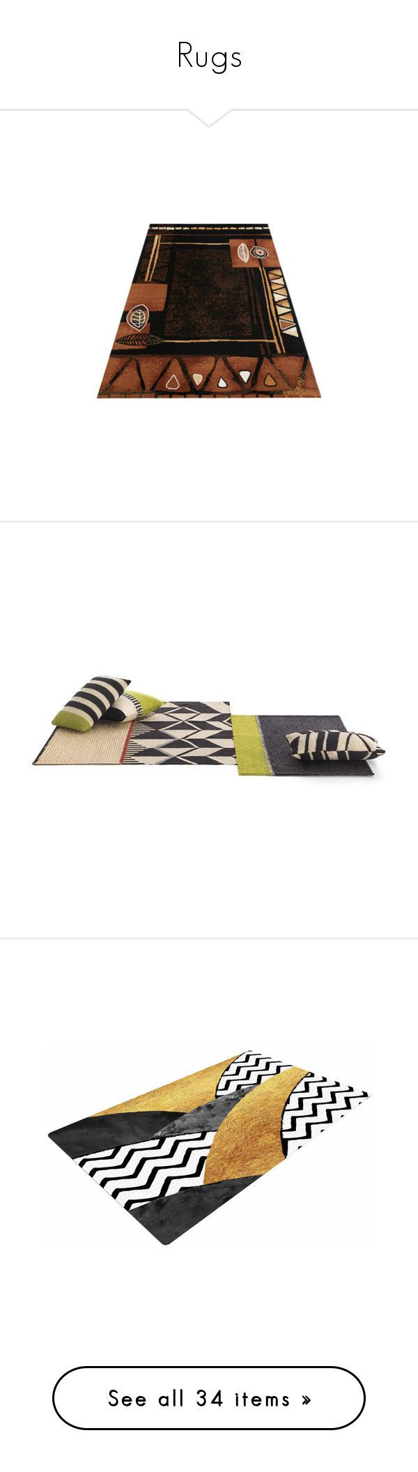 """""""Rugs"""" by gvoncheap ❤ liked on Polyvore featuring home, rugs, geometric wool rug, rectangular rugs, rectangle rugs, rustic rugs, rustic area rugs, zig zag rug, black white chevron rug and black and white zig zag rug"""