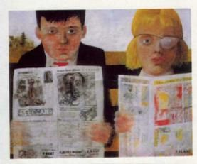 Children reading comics, Peter Blake, 1954