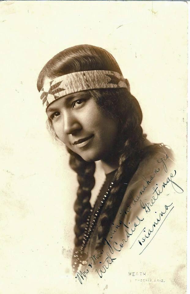 Princess Tsinanina Redfeather at Phoeniz, Arizona.