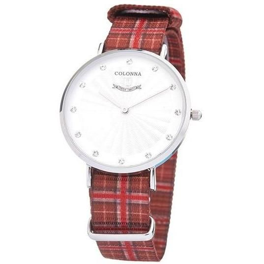 Watch with red scottish band