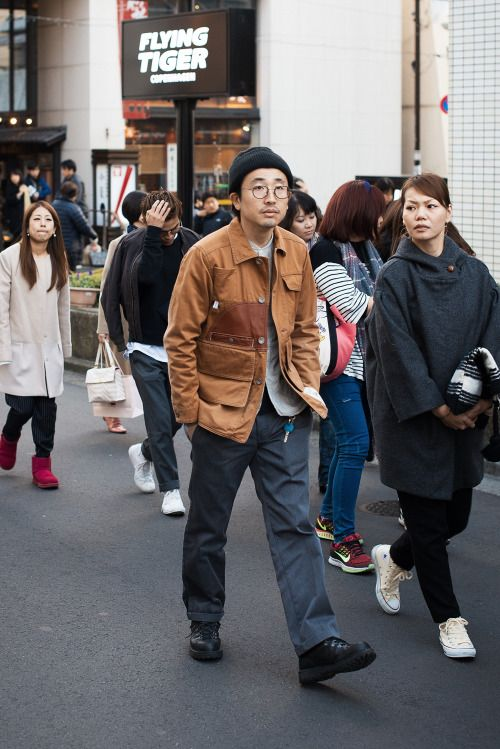http://chicerman.com  billy-george:  Spotted in Tokyo  Photo via Men in this Town  #streetstyleformen