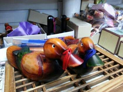 Souvenir : Wooden Ducks(used in Korean Traditional Wedding) at Gukje Market