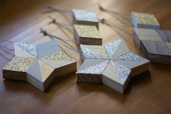 DIY: Metallic and Wood Ornaments