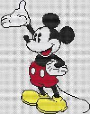 Resultado de imagen para colcha pixelada miki maus
