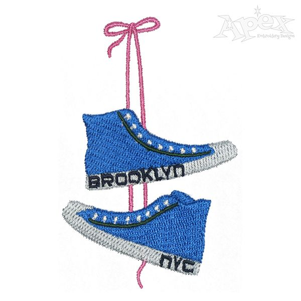 Brooklyn NYC Converse Embroidery Design