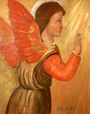 Angelo rosso - olio su tela (40x50 cm)