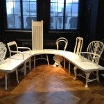 Gitta Gschwendtner morphs 6 chairs into 1 for the launch of the v's furniture gallery