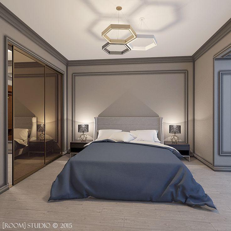 Дизайн интерьера в Казани. [Мужская спальня] #roomstudiokazan #designinterior #bedroom #спальня