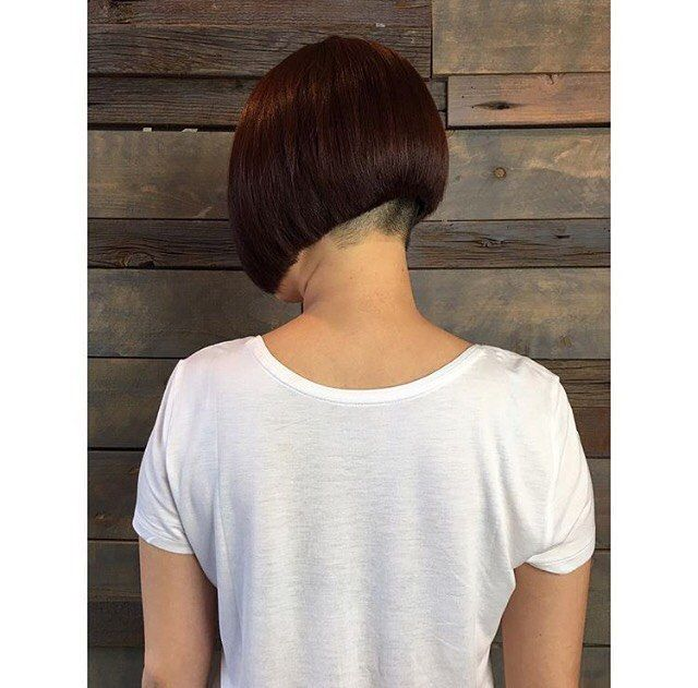 Stunning Perfect Clean Cut Bob With Shaved Nape