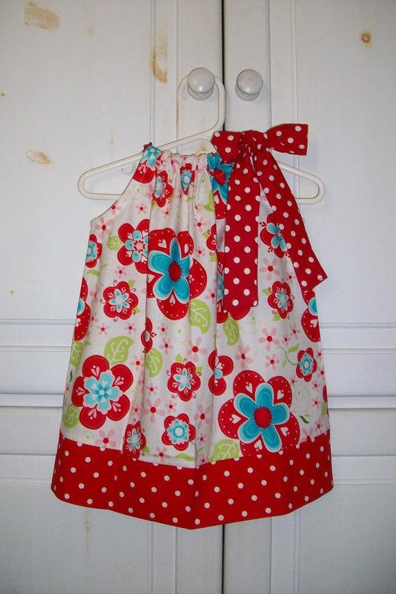Red and Aqua Pillowcase Dress DIY? & 195 best Pillowcase Dress images on Pinterest | Pillowcase dresses ... pillowsntoast.com
