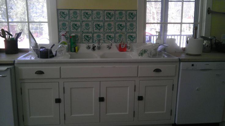 ragdale foundation kitchen sink & backsplash. love this place! photo