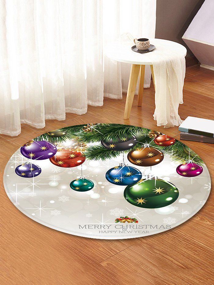 Christmas Theme Decorative Round Floor Rug (con immagini