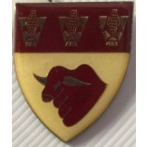 SOUTH AFRICA (SADF) HOPETOWN COMMANDO METAL SHOULDER BADGE
