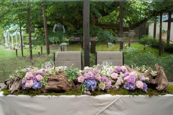Wedding Flower メイン装花×流木
