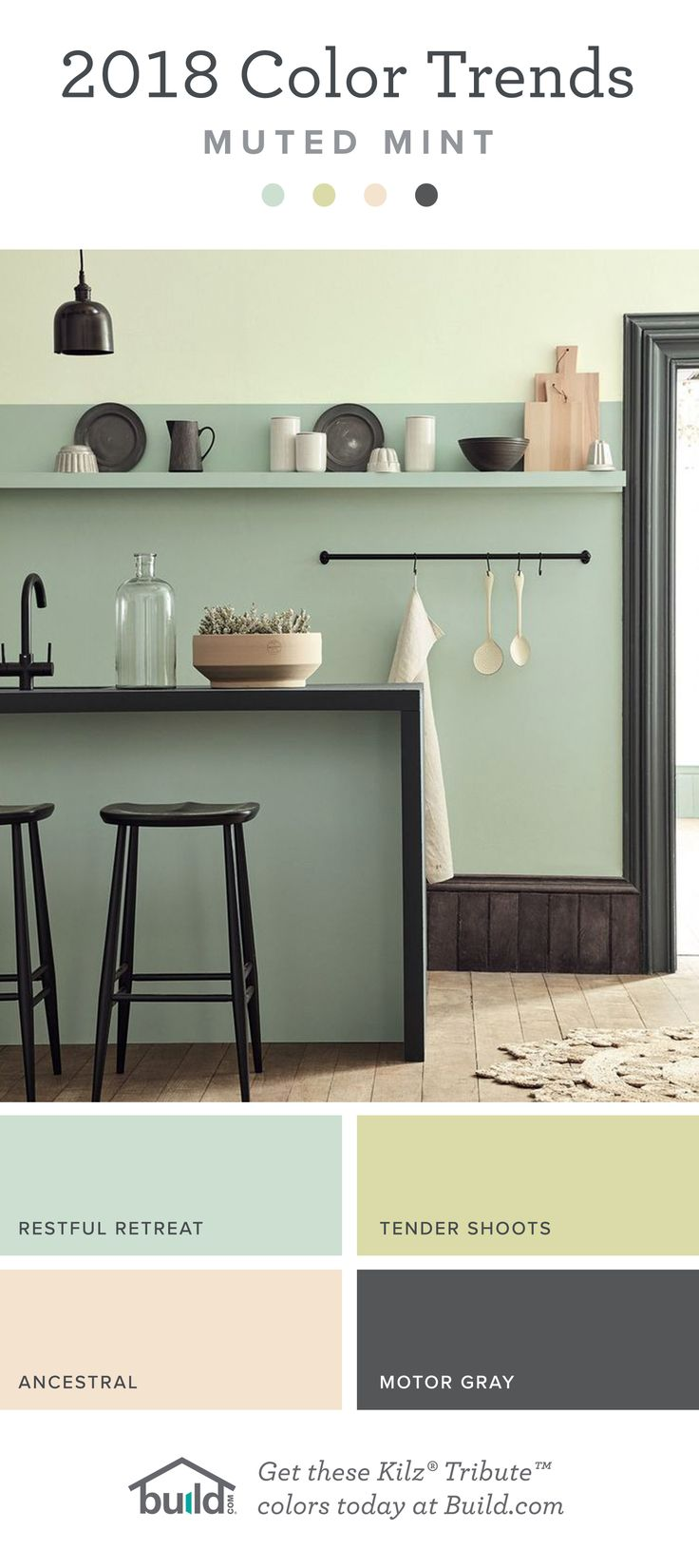 2018 Color Trends - Muted Mint