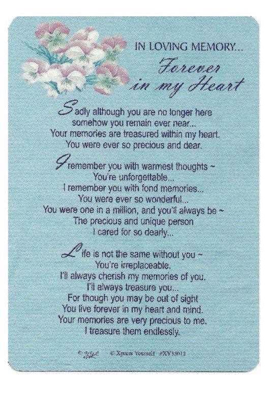 In Loving Memory Sayings