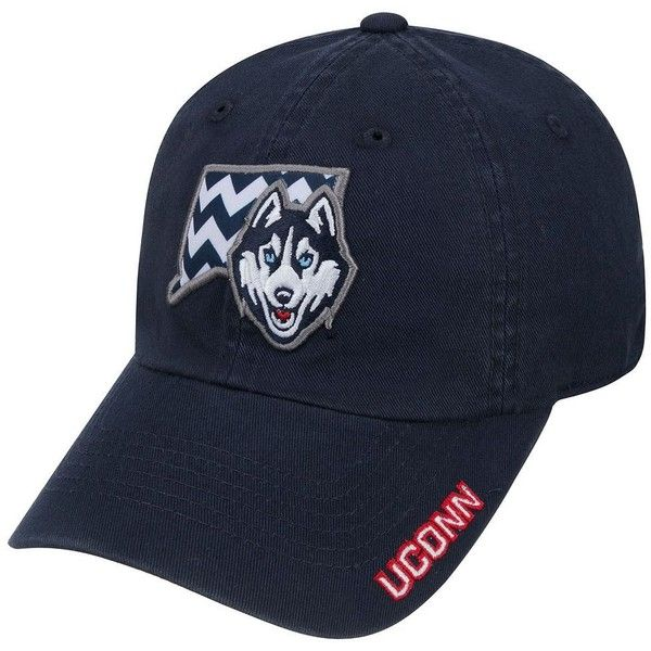 Adult Top of the World UConn Huskies Chevron Logo Cap, Size: ONESIZE,... ($22) ❤ liked on Polyvore featuring accessories, hats, con navy, navy cap, logo hats, adjustable hats, adjustable cap and graphic hats