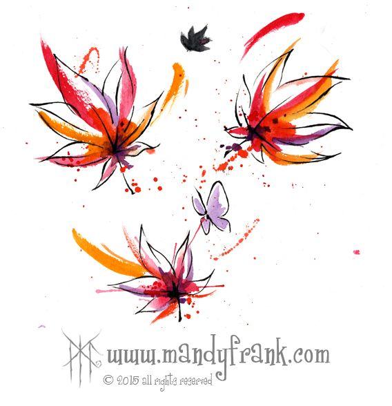 #butterflies #flowers #watercolor #artwork #mandyfrank #illustration #hamburg2016
