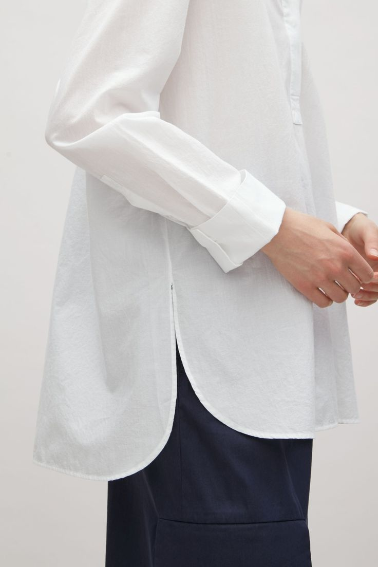COS image 3 of Light cotton shirt in Optic white