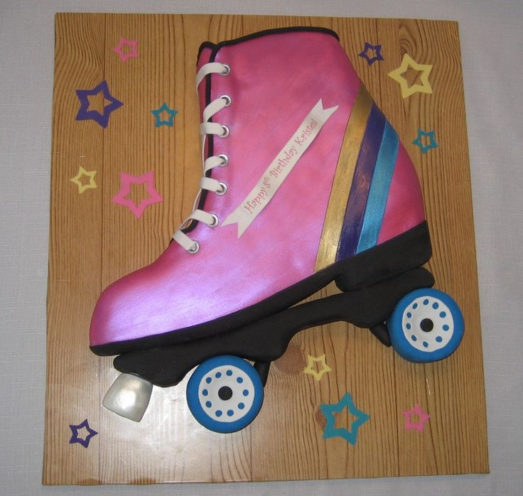 Awesome Rollerskate Carved from a single layer and pieced together and painted with luster dust alcohol plate is cake ball dough