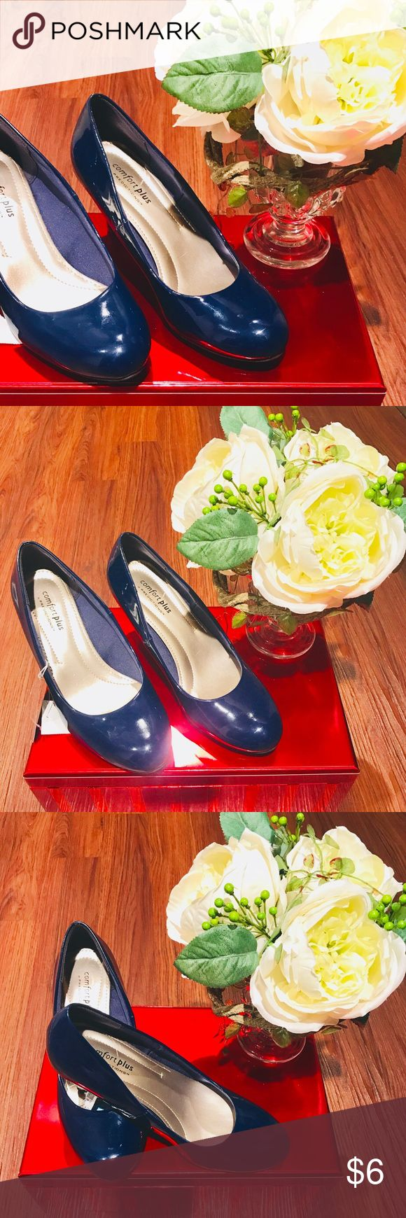 Blue Patent Leather Shoes Brand New Predictions Comfort Plus Patent Leather Shoes. Nice condition and never worn. Predictions Shoes Heels