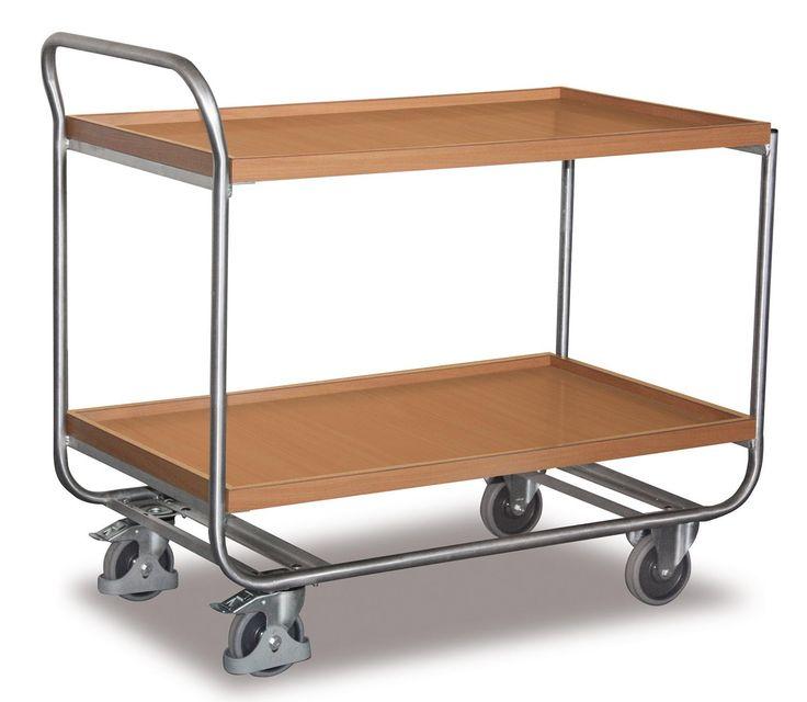 GTARDO.DE:  Aluminium-Tischwagen, Tragkraft 200 kg, Ladefläche 970 x 570 mm, Maße 1085 x 600 x 970 mm, Rad 125 mm 172,00 €