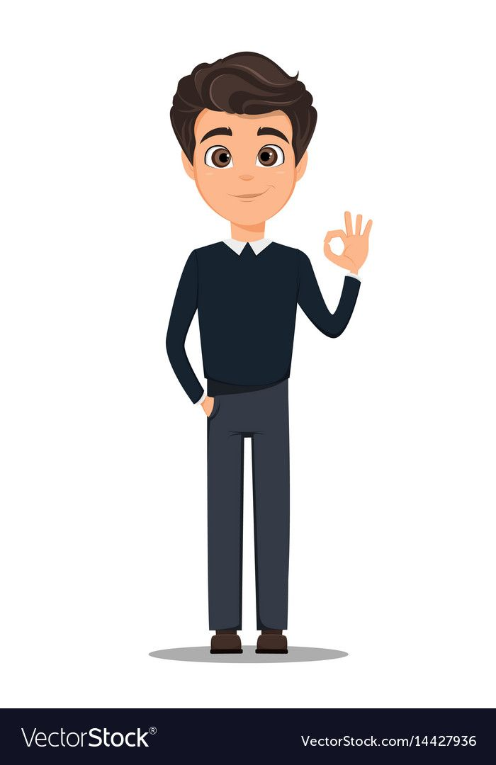 Business Man Cartoon Character Young Handsome Vector Image Cartoon Character Design Character Design Animation Business Cartoons