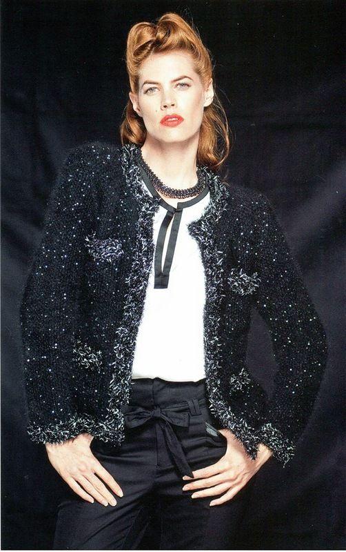 Жакет из ангоры и мохера в стиле Коко Шанель. Обсуждение на LiveInternet…