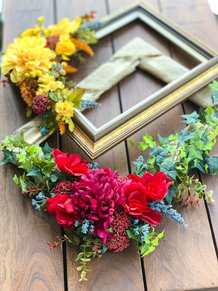 DIY Picture Frame Wreaths, Perfect for Fall. We wanted to