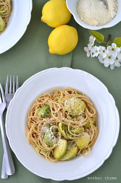 Spaghetti with Brussels Sprouts and Lemon Butter | Recipe