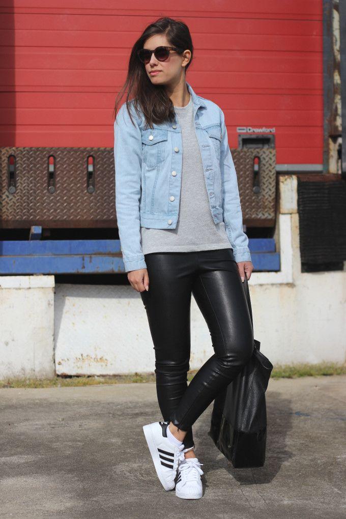 #Outfit #perfecto con #zapatillas básicas de #Adidas