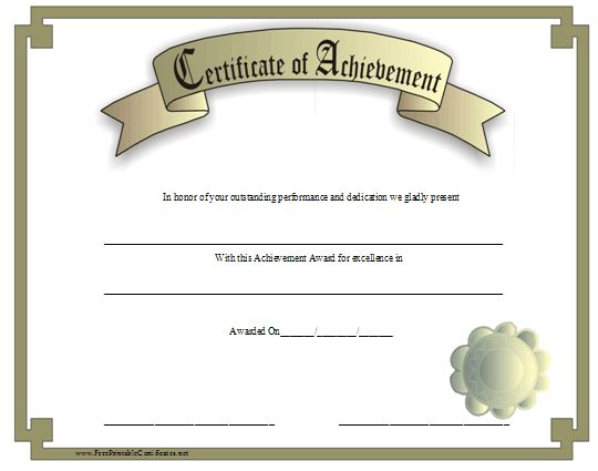 25 trending certificate of achievement template ideas on a classic look certificate of achievement with a gold border and a 3d look yadclub Images