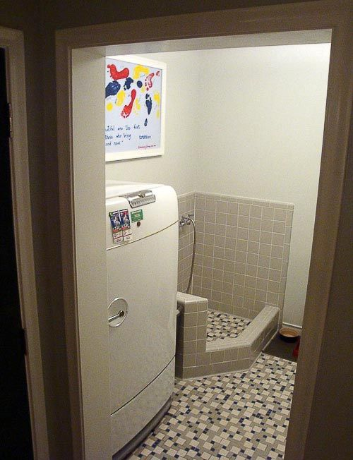 49 best pet dog wash station images on pinterest bathrooms natalie and graham add retro daltile and a dog shower to their laundry room woof solutioingenieria Image collections
