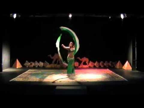 Voi (veil poi) Gears of War Theatrical Belly Dance Dana Beaufait - YouTube