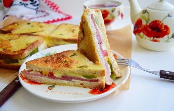 Sandwich-uri aperitiv, preparate la cuptor