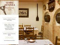 Κατασκευή mobile friendly ιστοσελίδας για τη ταβέρνα Αρτέμιδα στη Ρόδο. Φωτογραφικό υλικό από το χώρο, εμφάνιση καταλόγου φαγητού και σύστημα κρατήσεων.