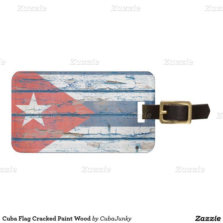 Madera agrietada de la pintura de la bandera de etiqueta para maleta.Trip Travel. Producto disponible en tienda Zazzle. Product available in Zazzle store. Regalos, Gifts. Link to product: http://www.zazzle.com/madera_agrietada_de_la_pintura_de_la_bandera_de_etiqueta_para_maleta-256983947364009453?lang=es&CMPN=shareicon&social=true&rf=238167879144476949 #Bag #Tags #cuba #viaje #travel