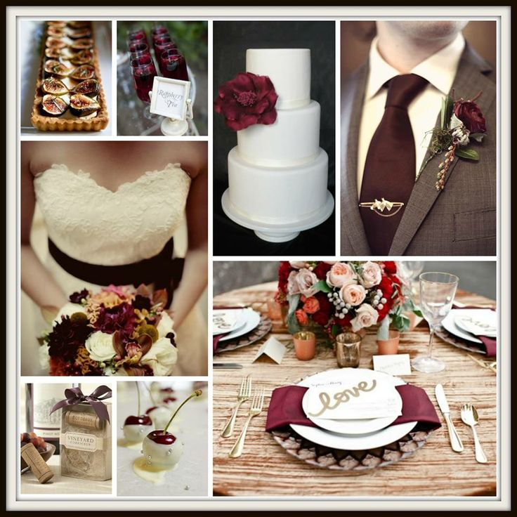 Burgundy Wedding Inspiration Board