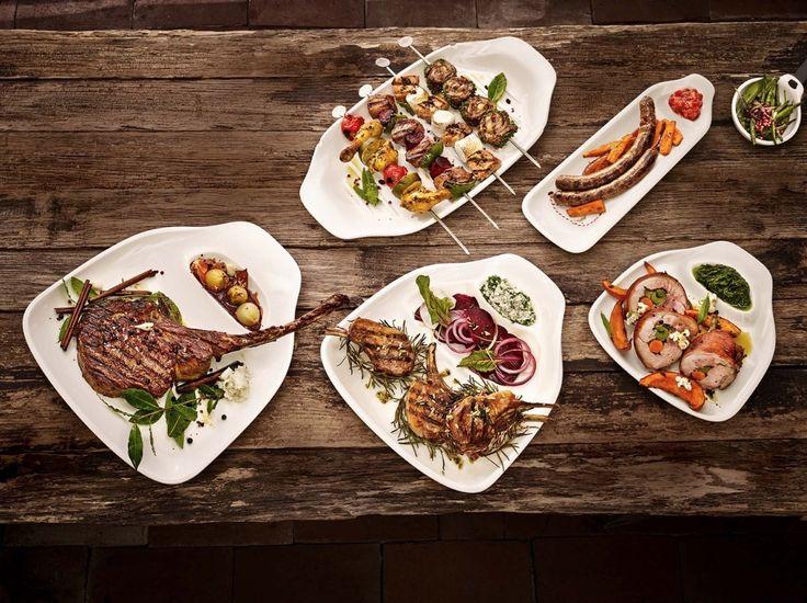 Новая коллекция столовой посуды для барбекю BBQ Passion совершенно объединила в себе функциональность и элегантность современного дизайна. #villeroyboch #фарфор #украшения #декор #сервировка #элитная #villeroy #кухня #посуда #немецкая #интерьер #фото #сервиз #тарелки #гриль #шашлык #стейк #мясо